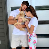 Kobe Tim Tebow and Demi-Leigh Nel-Peters Welcome Three New Puppies