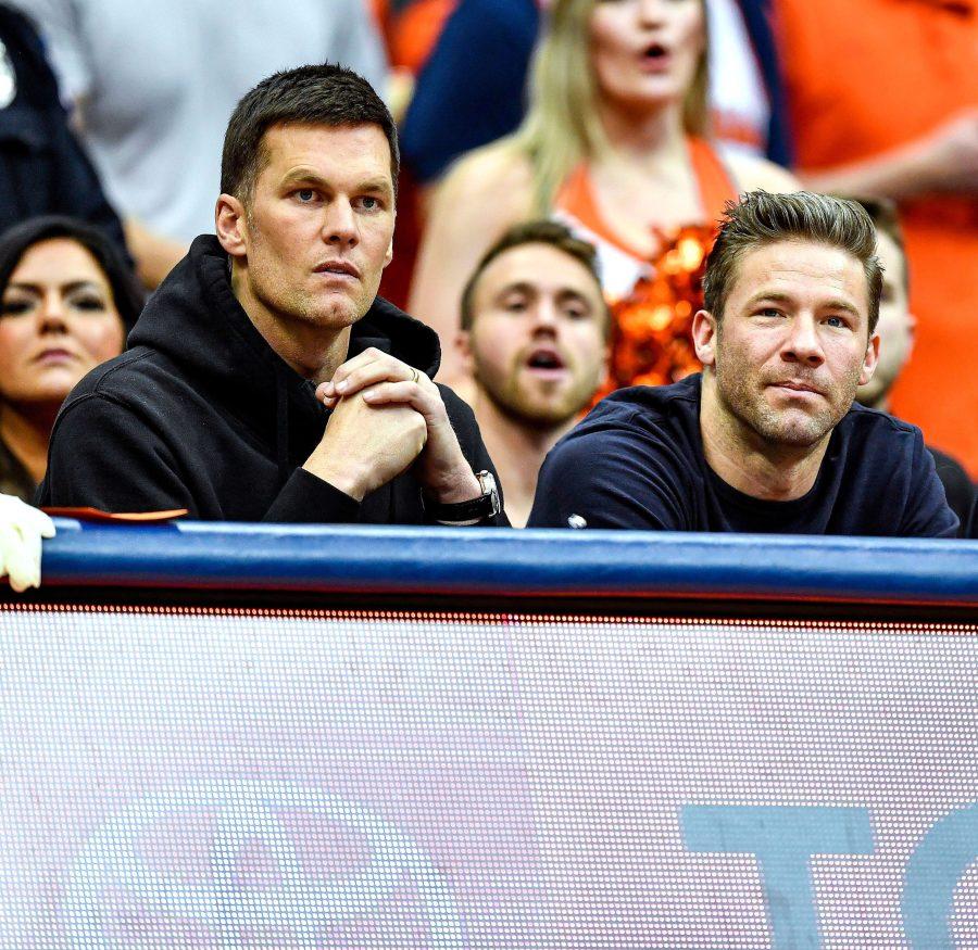 Tom Brady and Julian Edelman Joke About Brady's Free Agency Futur