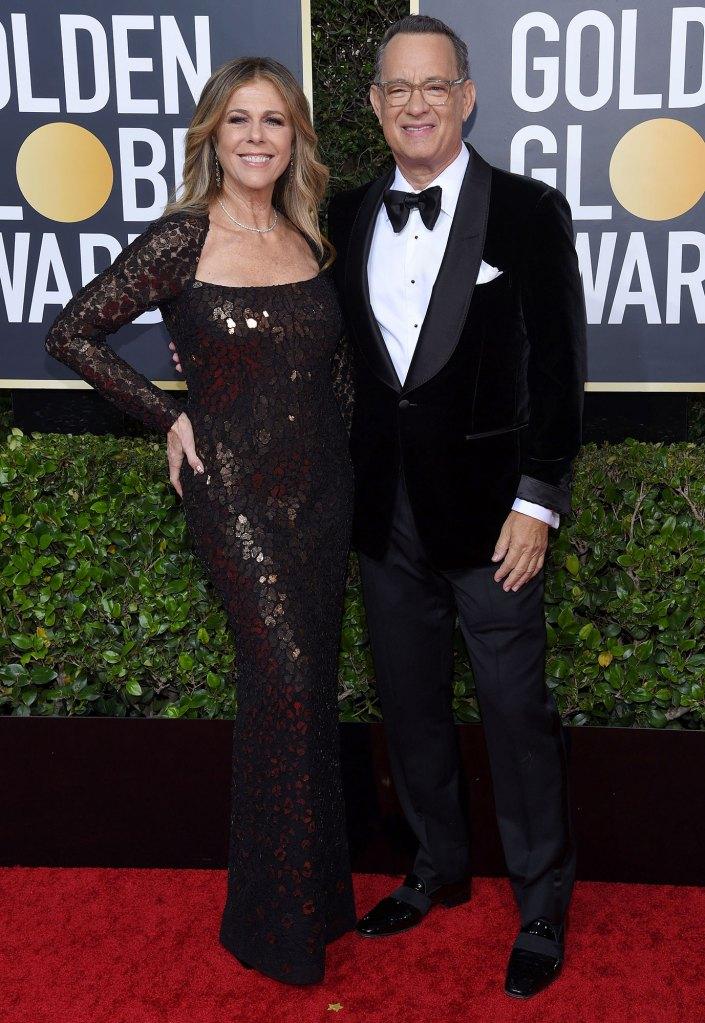 Tom Hanks and Rita Wilson 77th Annual Golden Globe Awards Coronavirus Survivor