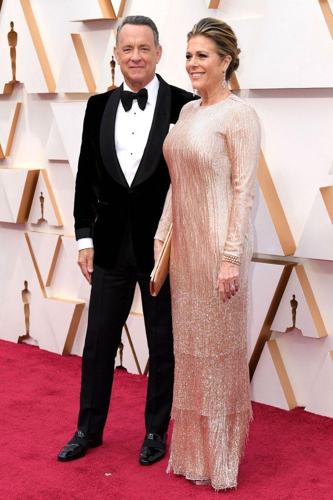 Tom Hanks and Rita Wilson Academy Awards Arrive Back in LA Coronavirus