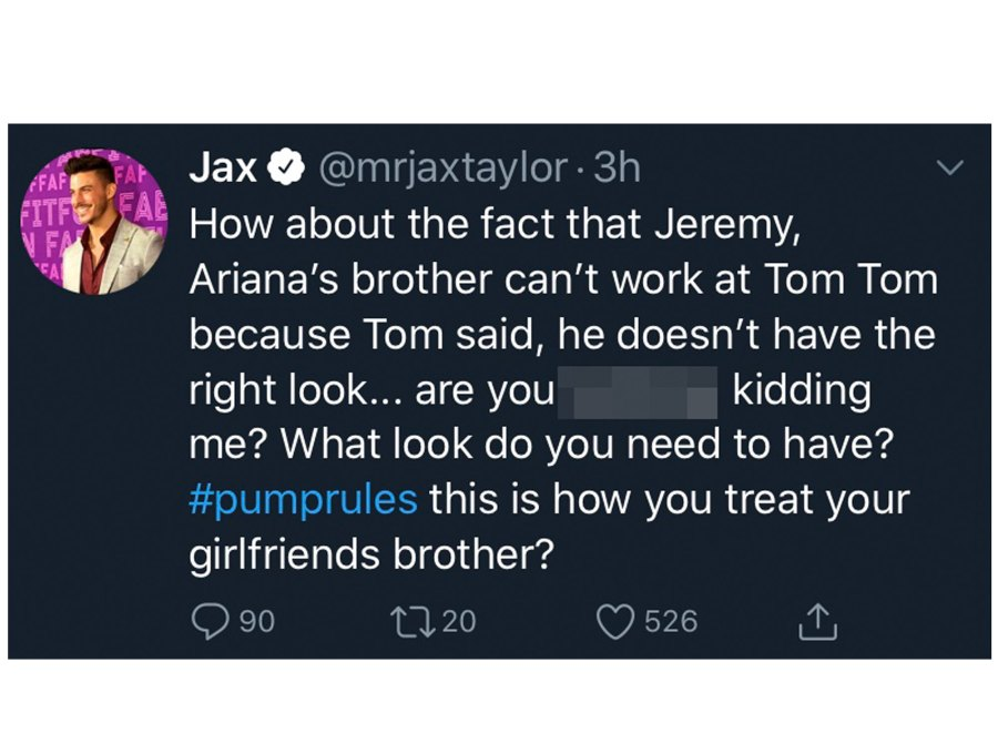 Tom Sandoval Engages in Nasty Twitter Feud With Jax Taylor