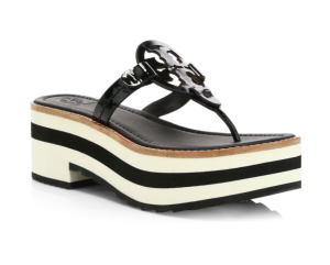 Tory Burch Miller Platform Leather Thong Sandals