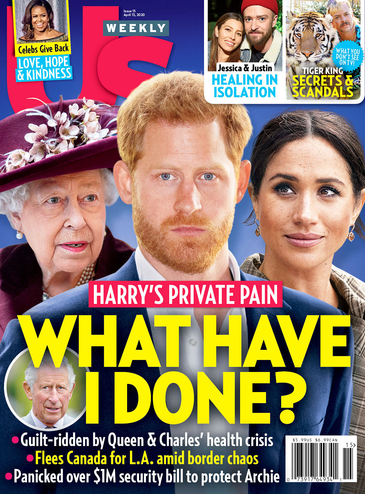 Us Weekly Cover Issue 1520 Prince Harry Meghan Markle Queen Elizabeth Ben Affleck Would Love to Have a Baby With His Girlfriend Ana De Armas