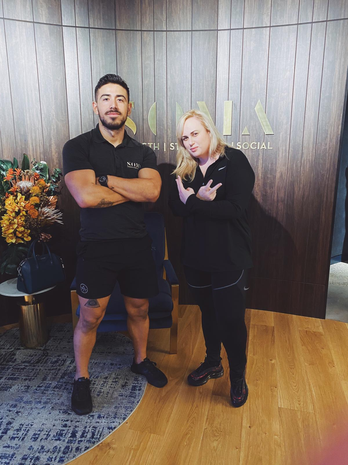 Rebel Wilson Puts in Work at the Gym With Help From Her Personal Trainer Jono Castano Acero