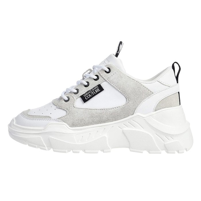 Versace Jeans Couture Suede and Leather Chunky Sole Sneaker