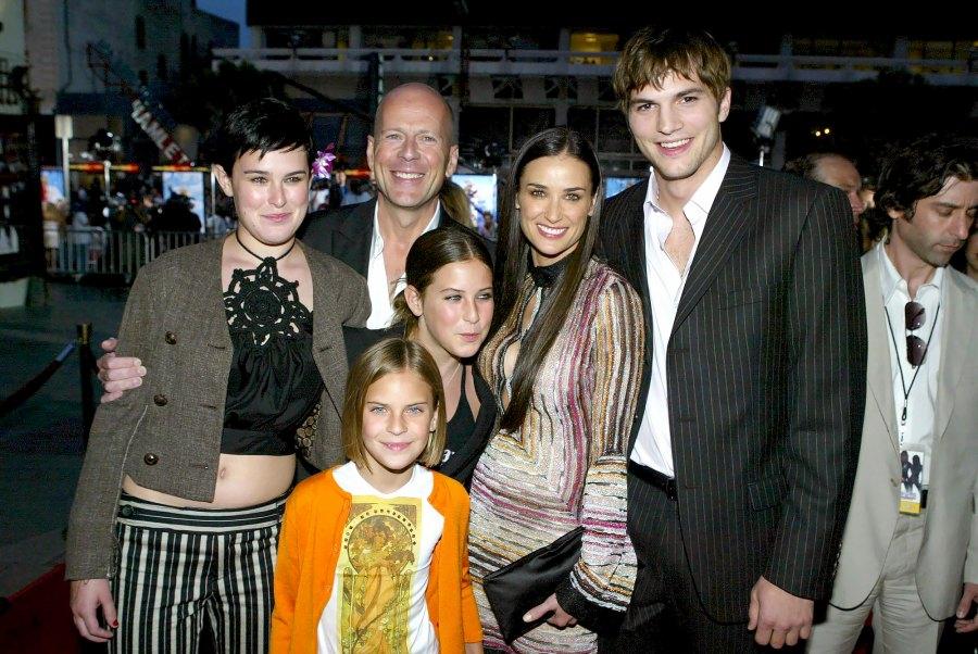 2 Demi Moore and Bruce Willis 2009 Demi, Bruce and Ashton