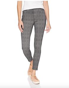 Amazon Essentials Women's Skinny Stretch Pull-On Knit Jegging (Glen Plaid)