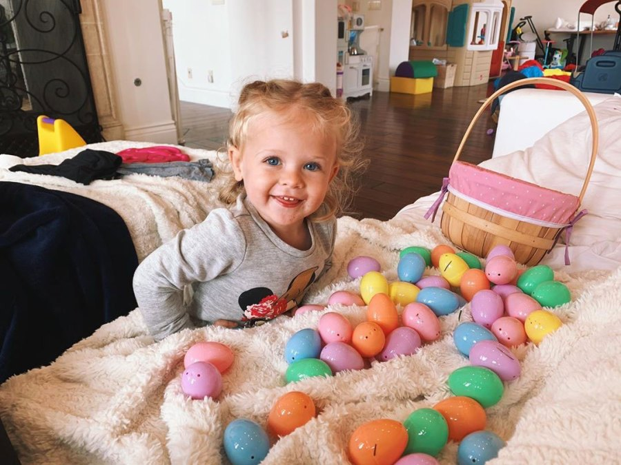 April Love Geary and Robin Thicke April Love Geary Instagram Easter Egg Hunt