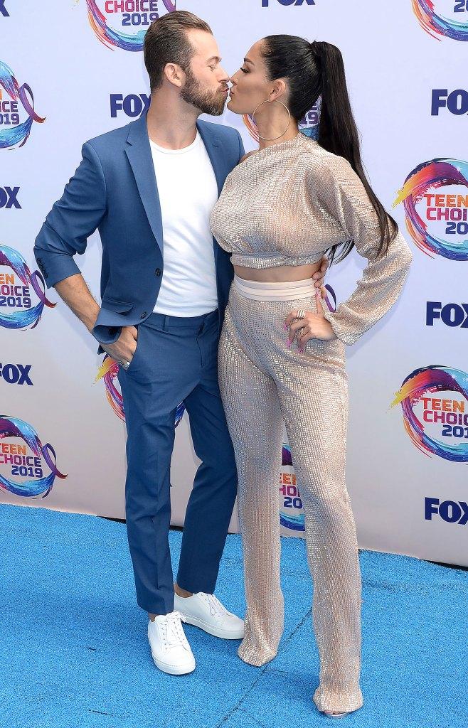 Artem Chigvintsev and Nikki Bella Teen Choice Awards Last Name