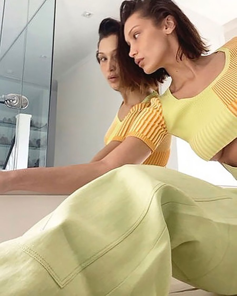 Bella Hadid Poses Nude for a Jacquemus Campaign Shoot Via