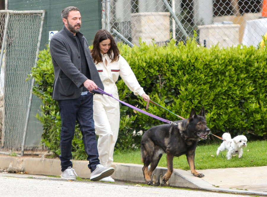 Ben Affleck and Ana de Armas Go for a Walk on Easter