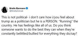 Brielle Biermann Gets Backlash After Saying Donald Trump Has Feelings Too
