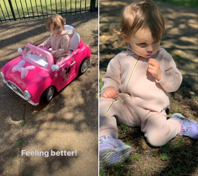 Carly Waddell's Daughter Bella Feeling Better