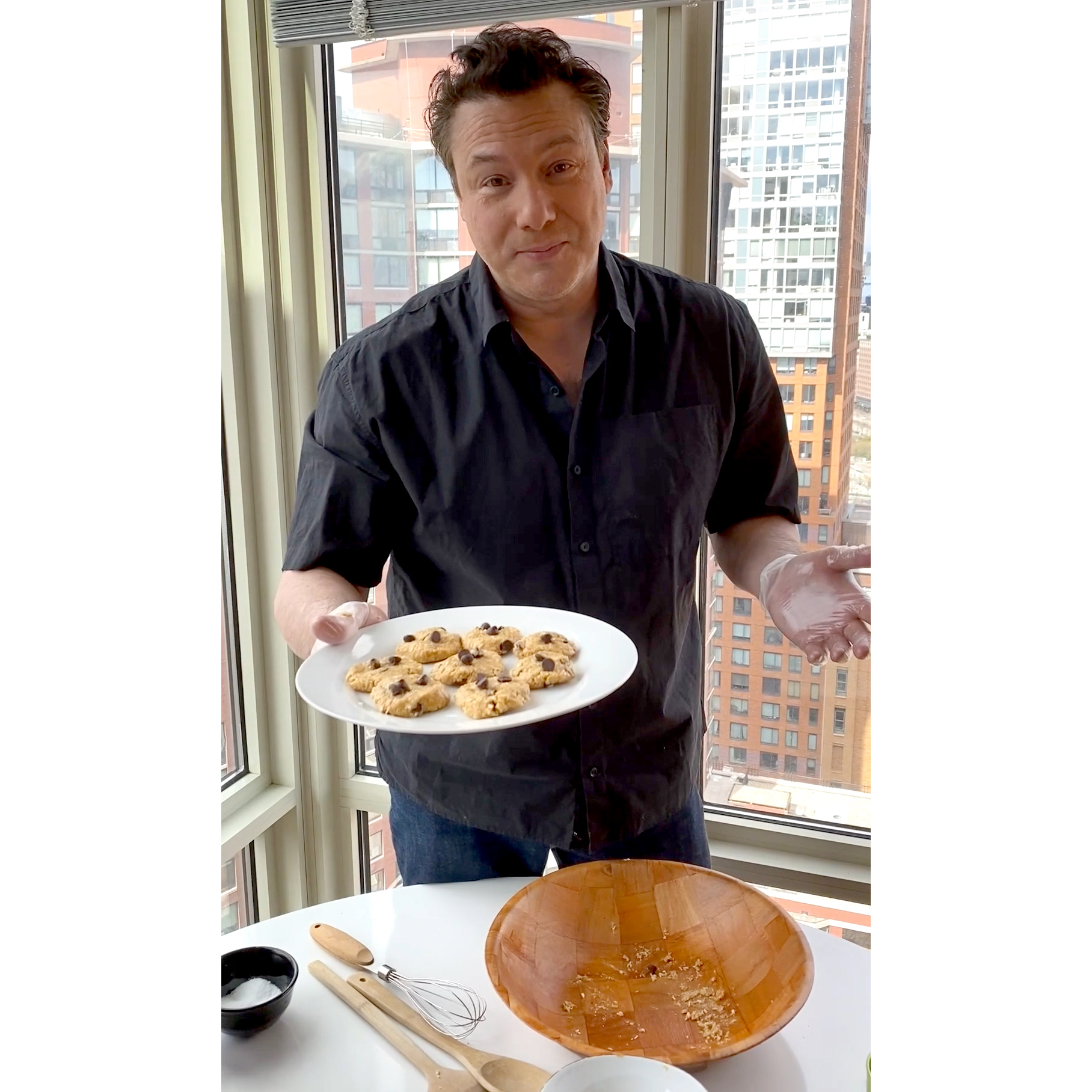 Chef Rocco Dispirito Shares His Easy No-Bake Chocolate Chip Cookie Recipe 2