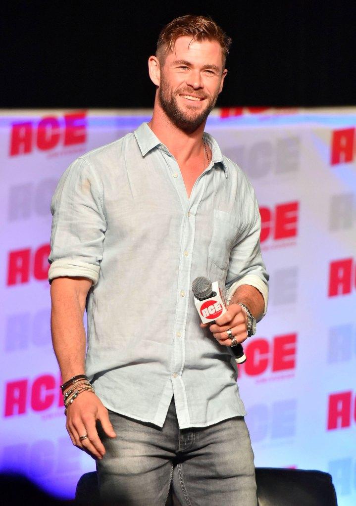 Chris Hemsworth Comic-Con Son Crash Interview