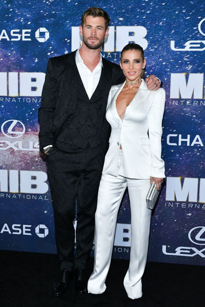 Chris Hemsworth Explains Why Wife Elsa Pataky Never Took His Name Men in Black White Pants Suit