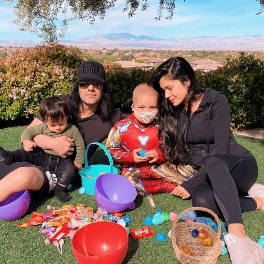 Criss Angel and Shaunyl Benson Shaunyl Benson Iinstagram Easter Egg Hunt