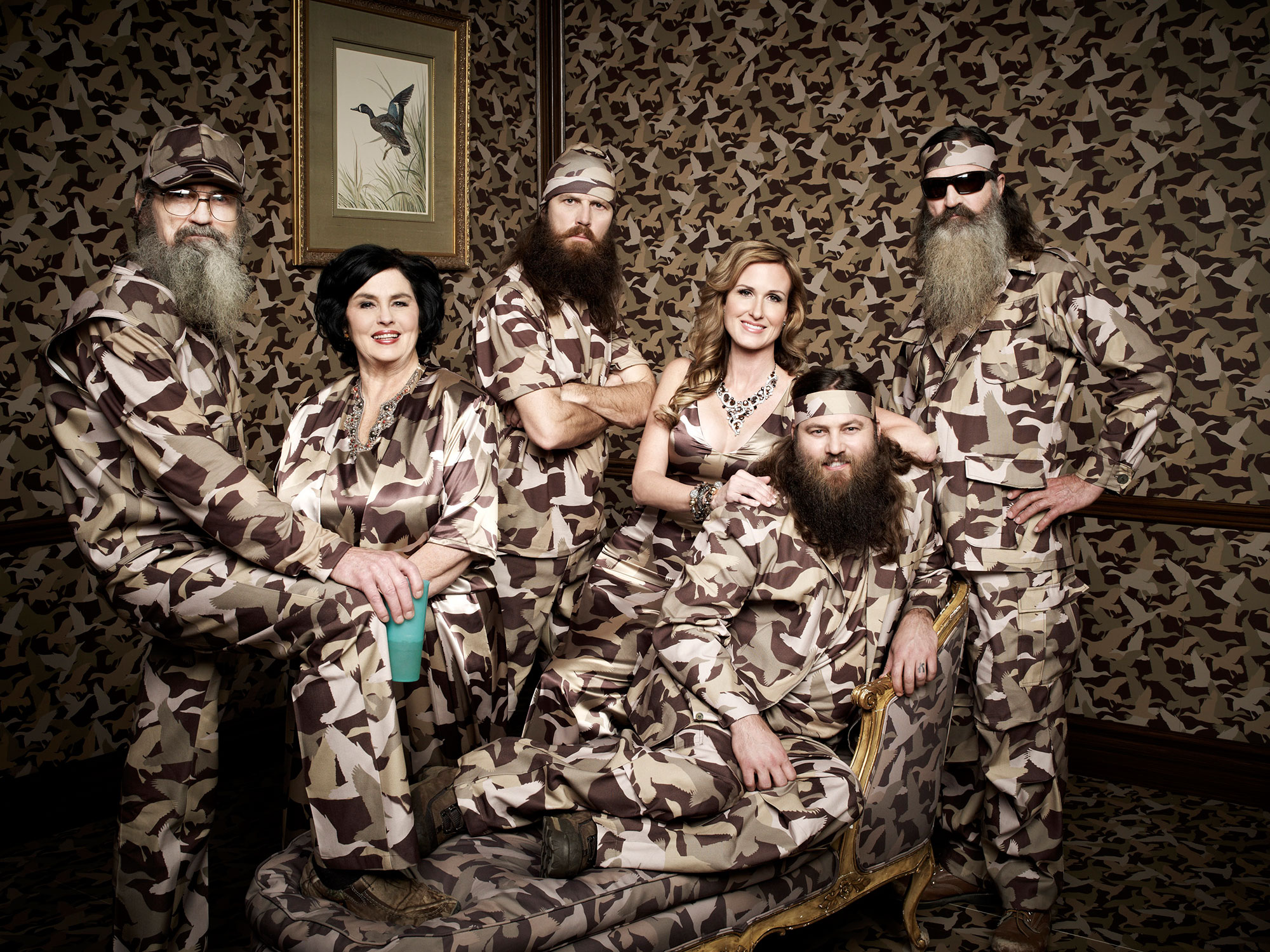 Willie, Korie, Miss Kay, Jase, Phil and Si Robertson Duck Dynasty Korie and Sadie Robertson Family OK After Drive By