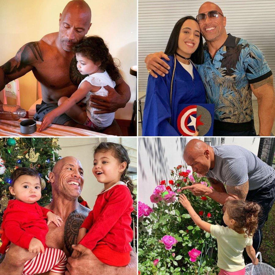 The Rock Dwayne Johnsons Sweetest Quotes About His 3 Daughters