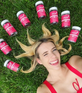 Emma Roberts shared that she is keeping her hair healthy and long with HUM Nutrition's Hair