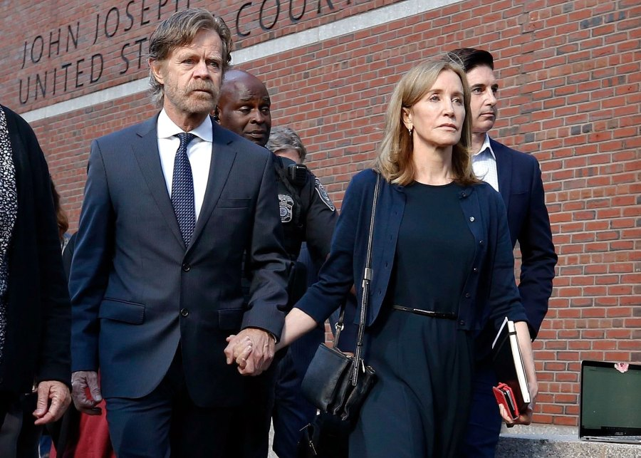 Felicity Huffman and William H Macy Courthouse
