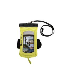 Float Phone Dry Bag With Audio Cord : Arm Band (Neon Green)