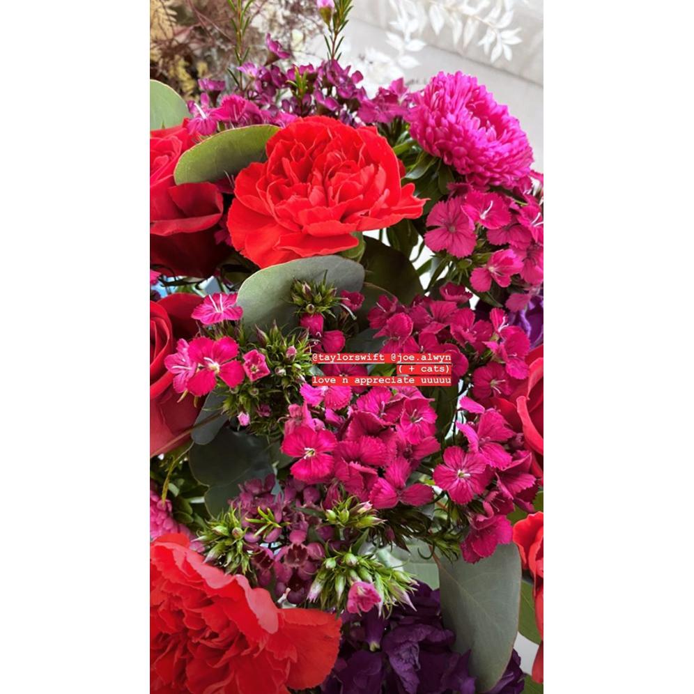 Gigi Hadid Shares Photo of Birthday Flowers From Taylor Swift and Joe Alwyn