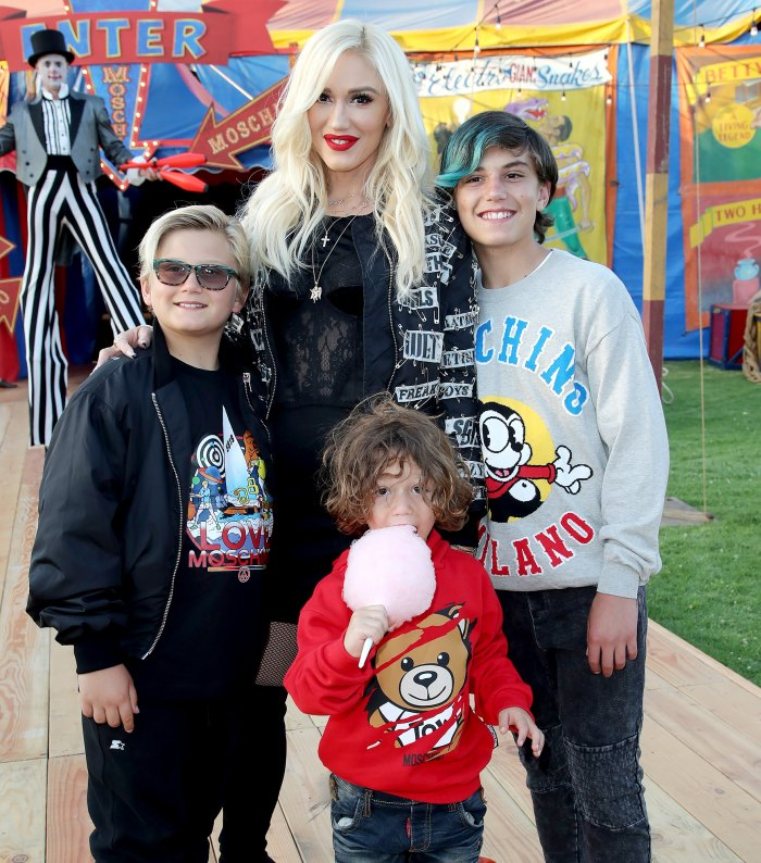 Gwen Stefani Worried About Her Kids School Work While at Dad 2