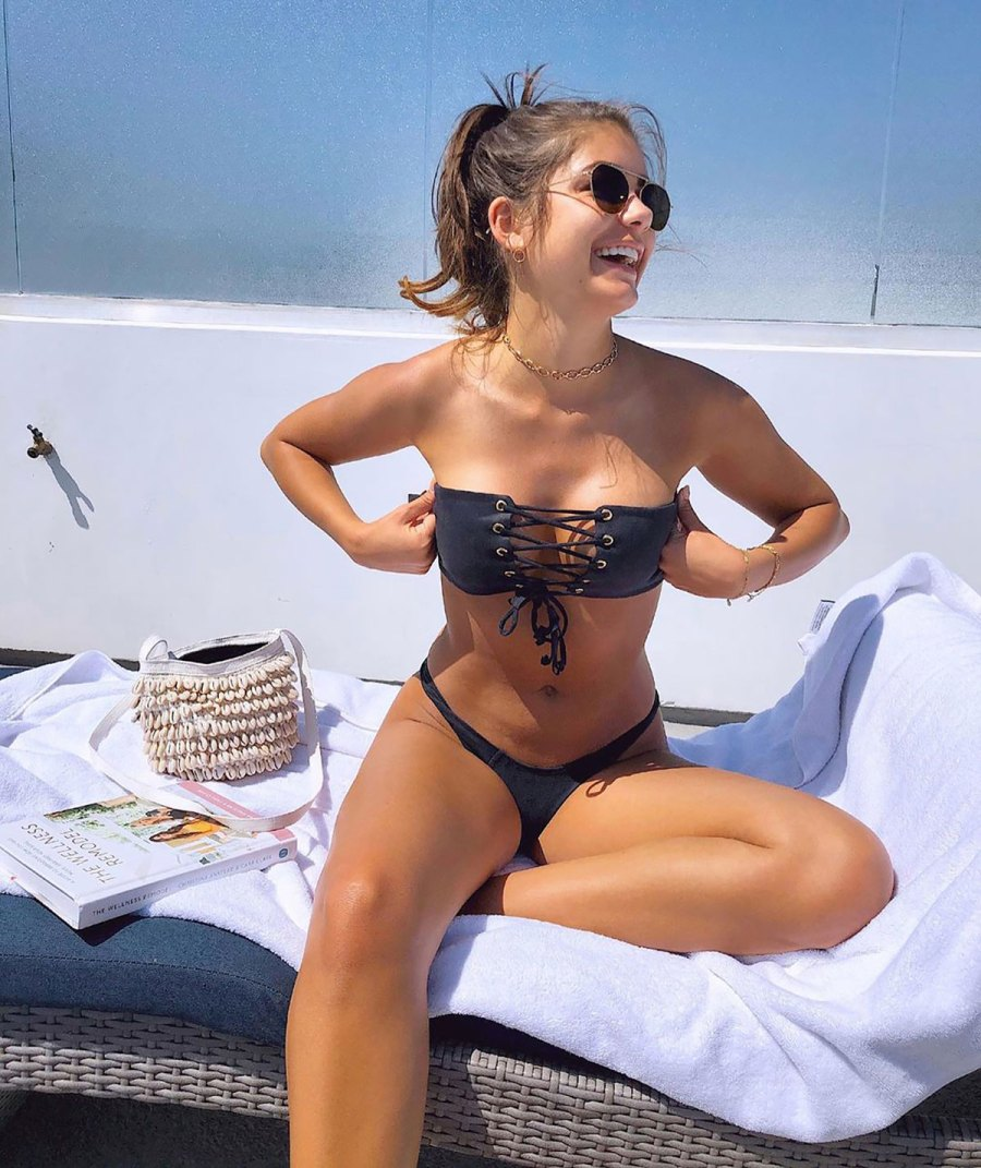 Hannah Ann Sluss Self-Isolates in Sexy Lace-Up Bikini