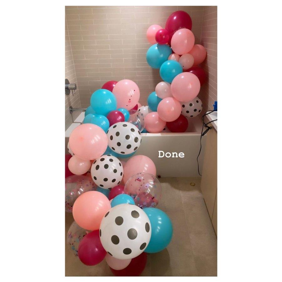 Jenna Jameson Balloon Arch Quarantine Birthdays
