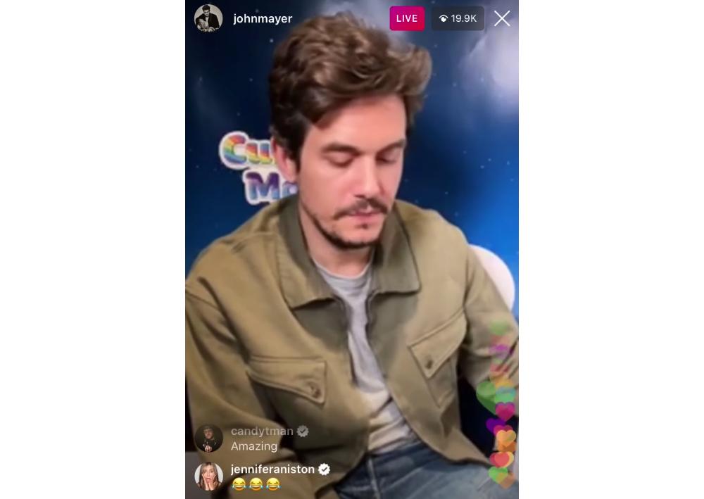 John Mayer Really Made Ex Jennifer Aniston Laugh on Instagram Live