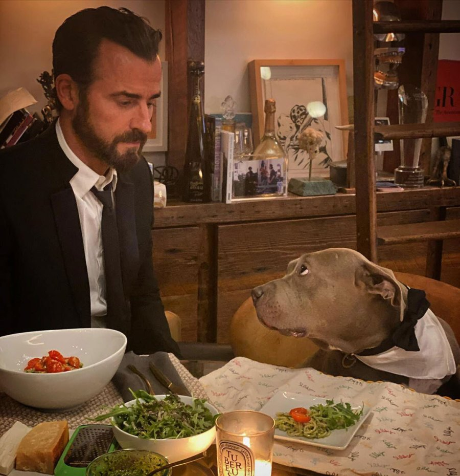 Justin Theroux Meals With Kuma