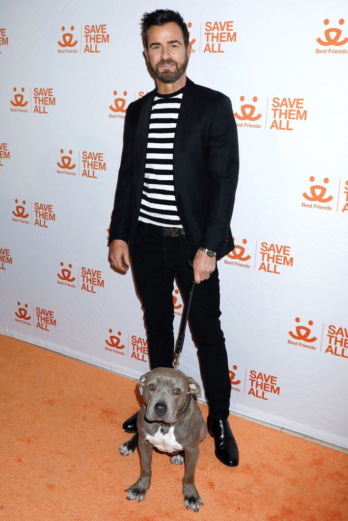 Justin Theroux Shares a Candlelight Pasta Dinner With His Dog Kuma in Quarantine Animal Society Best Friends Benefit
