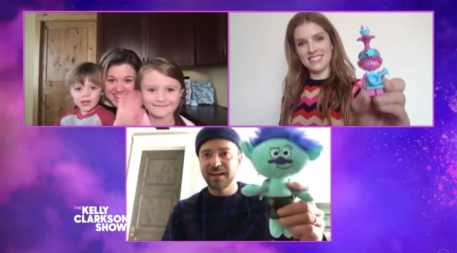 Kelly Clarkson Kids Crash Interview With Justin Timberlake and Anna Kendrick