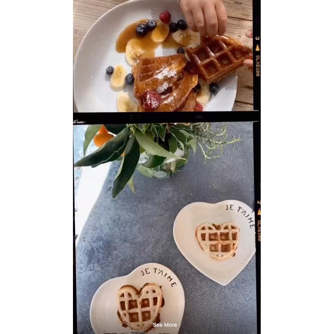 Kourtney Kardashian waffles