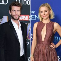 Liam Hemsworth Wearing Saint Laurent and Kristen Bell Wearing Dior