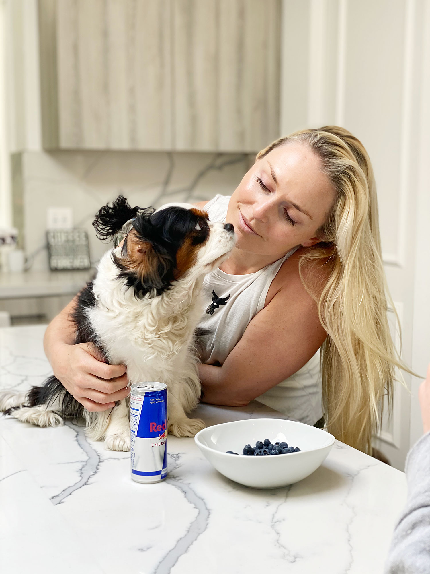 Lindsey Vonn and Her Dog Lucy How I Spend a Typical Day in Quarantine During the Coronavirus Outbreak