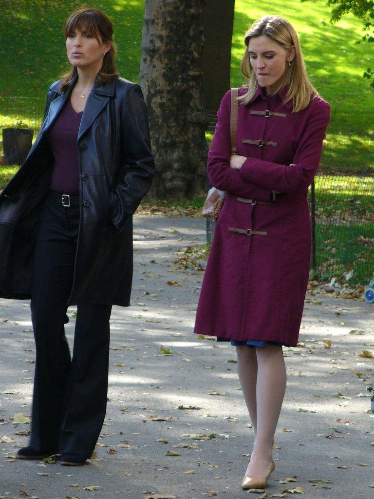 Mariska Hargitay and Isabel Gillies Law and Order Special Victims Unit