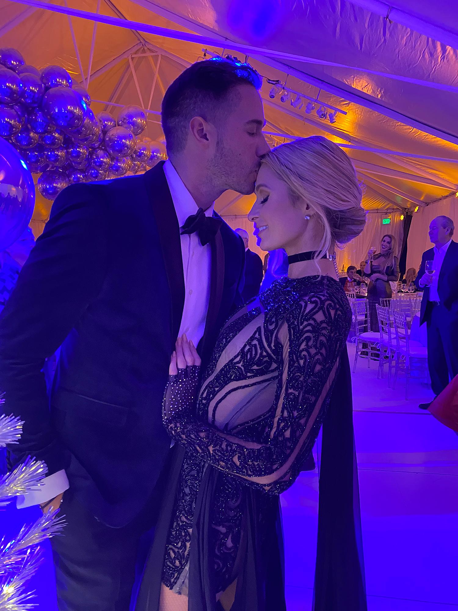 Paris Hilton Celebrates Anniversary With BF Carter Reum