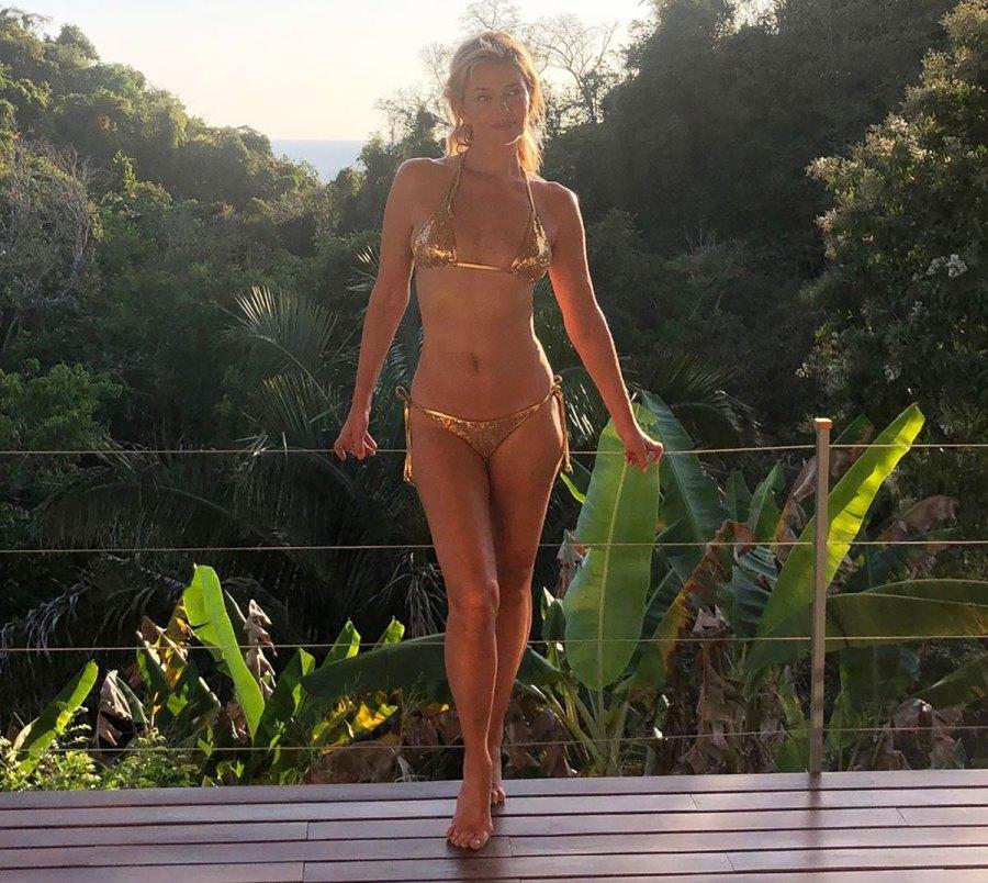 Paulina Porizkova Turns 55, Shares Pic in Tiny Gilded Gold Bikini