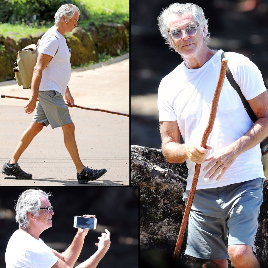 Pierce Brosnan Almost Looks Unrecognizable on Solo Hike Hawaii