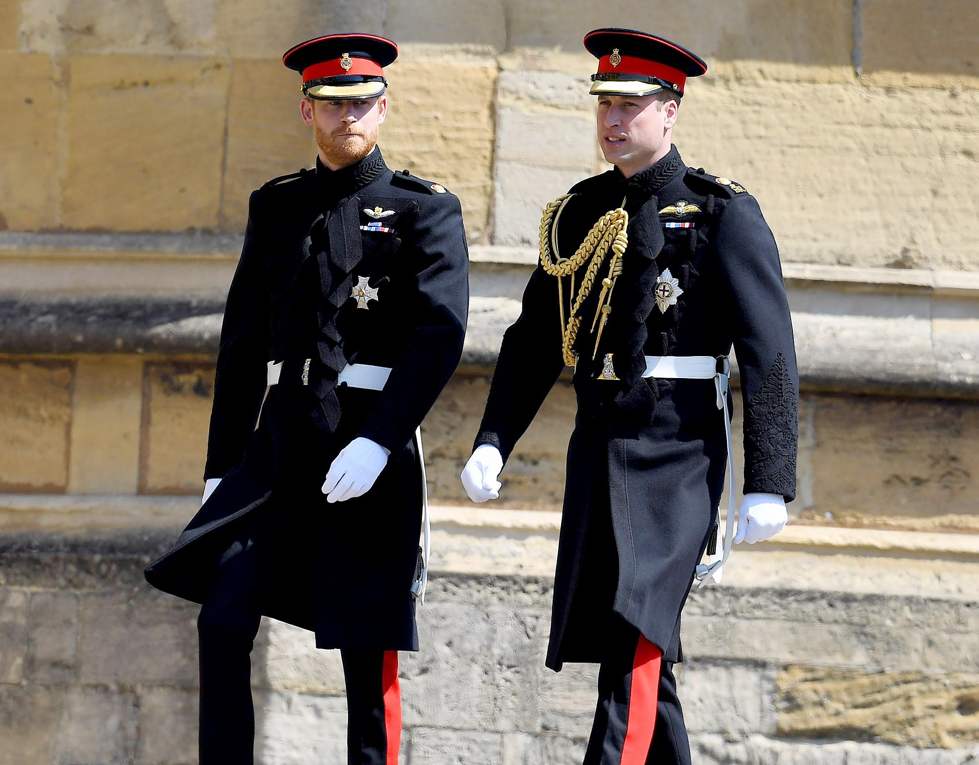 Prince Harry and Prince William awkward