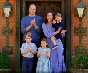 Prince William and Duchess Kate Lead Clap for Carers With Prince George Princess Charlotte and Prince Louis