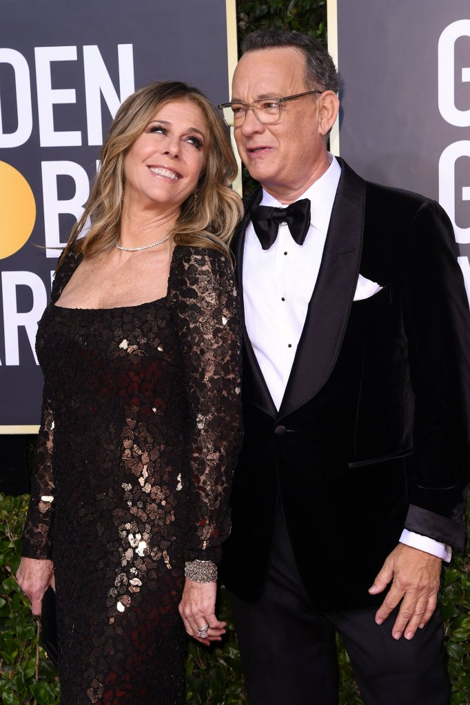 Rita Wilson and Tom Hanks 77th Annual Golden Globe Awards Coronavirus