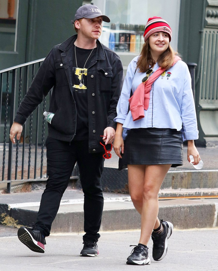 Rupert Grint and Georgia Groome in New York in 2018 5 Things to Know About Rupert Grints Pregnant Girlfriend Georgia Groome