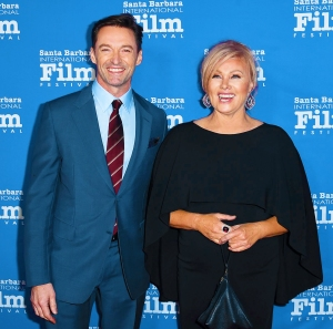 Hugh Jackman and Deborra-lee Furness attend the 13th Annual Santa Barbara International Film Festival Honors Hugh Jackman With Kirk Douglas Award For Excellence In Film on November 19, 2018 in Santa Barbara, California.