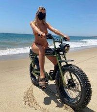 Sofia Richie Looks Straight Out of 'Mad Max' Rocking a Bikini on a Dirt Bike