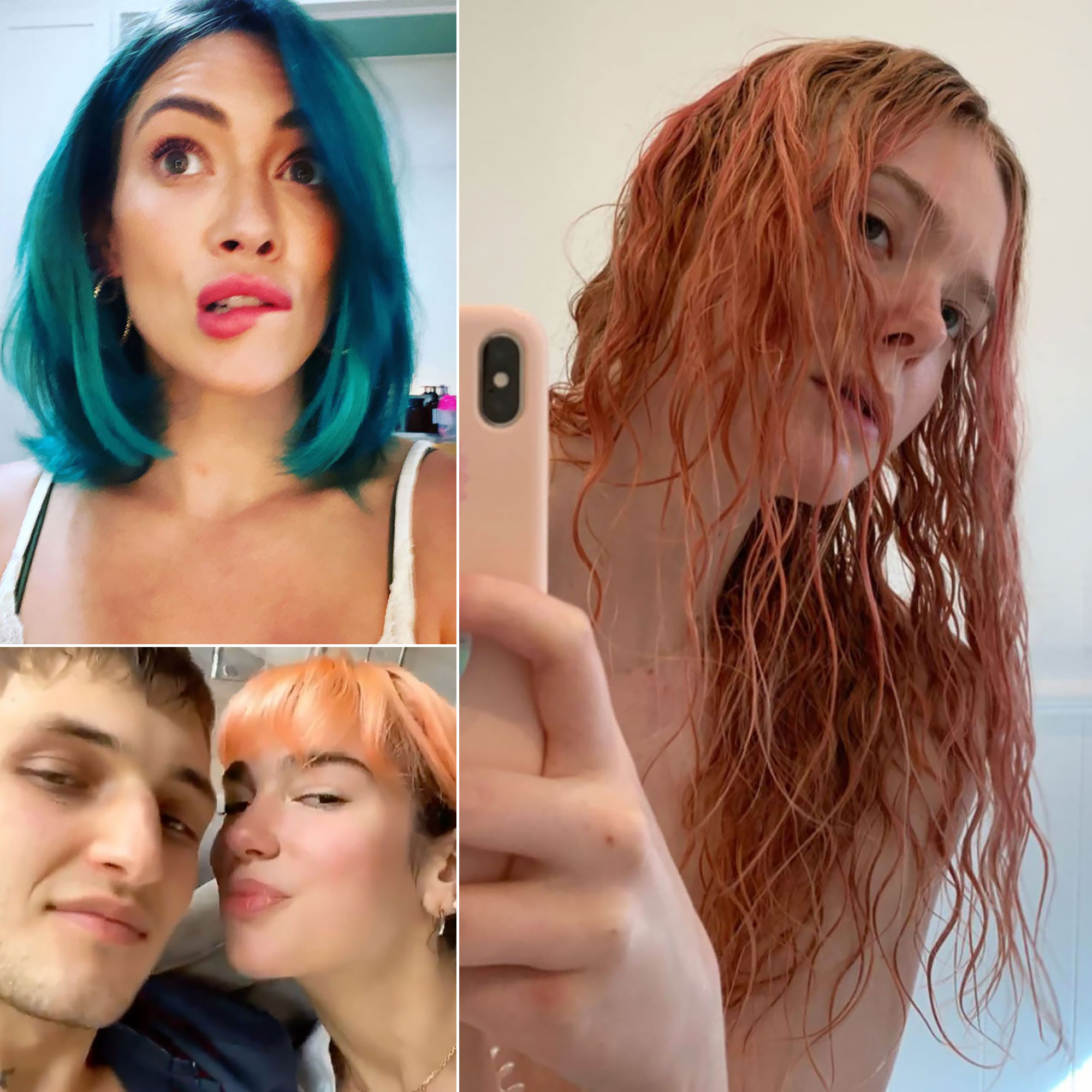 Celebrities Bold New Hair Colors In Quarantine Amid Covid 19 Pandemic