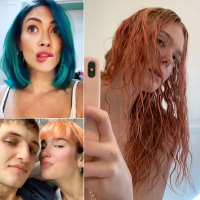 Celebrities Trying Out Bold New Hair Colors While Stuck At Home in Quarantine