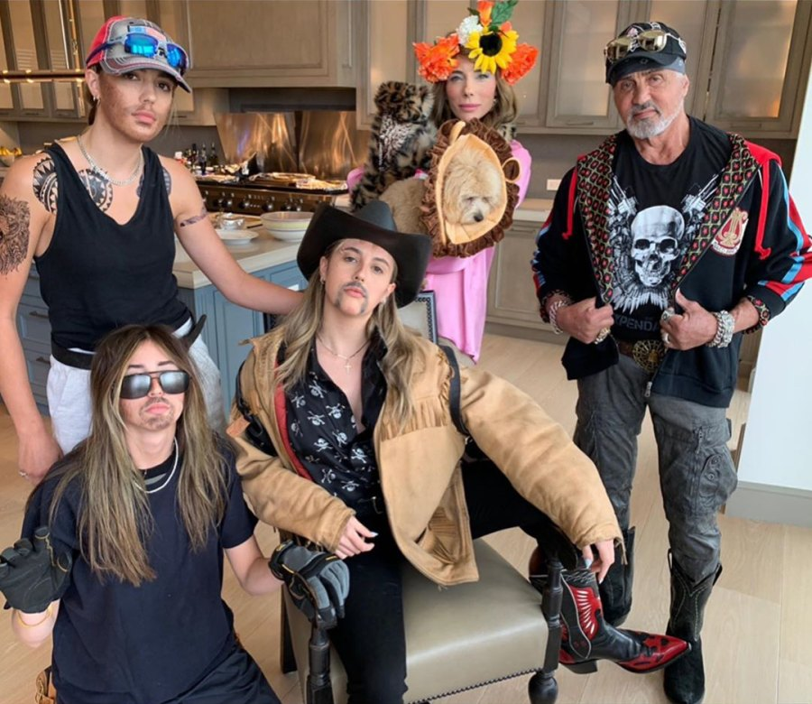 Sylvester Stallone, His Daughters Show Off Tiger King-Inspired Costumes 1